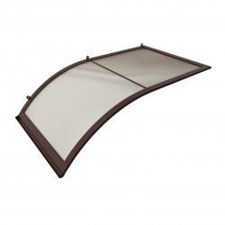 Stříška nad dveře oblouková jednostranná hnědá 160x75x75cm