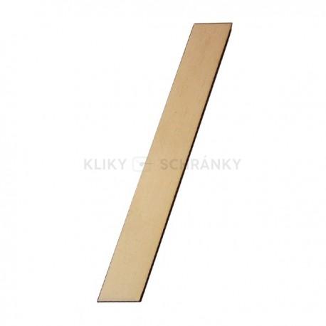 Domovní číslo popisné Dřevěné přírodní - lomítko