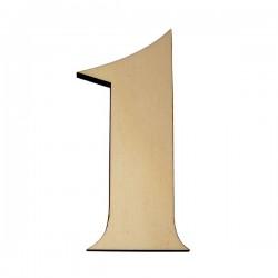 Domovní číslo popisné Dřevěné přírodní - č.1