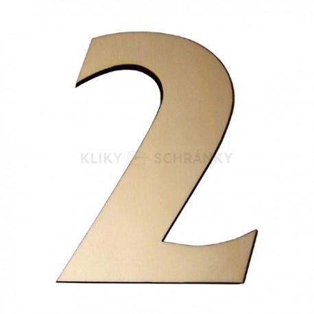 Domovní číslo popisné Dřevěné přírodní - č.2