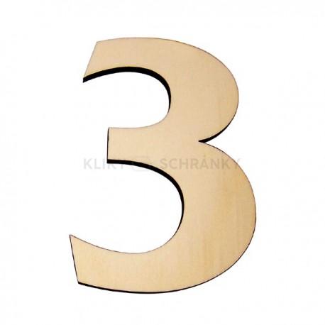 Domovní číslo popisné Dřevěné přírodní - č.3