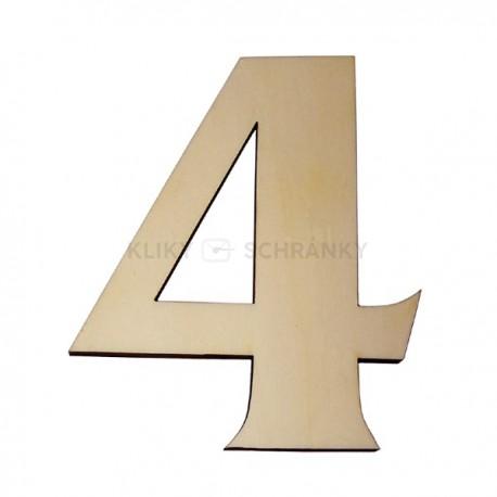 Domovní číslo popisné Dřevěné přírodní - č.4