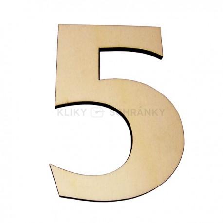 Domovní číslo popisné Dřevěné přírodní - č.5