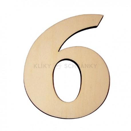 Domovní číslo popisné Dřevěné přírodní - č.6