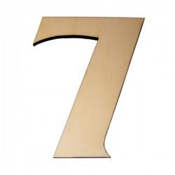 Domovní číslo popisné Dřevěné přírodní - č.7