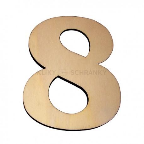 Domovní číslo popisné Dřevěné přírodní - č.8