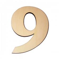 Domovní číslo popisné Dřevěné přírodní - č.9