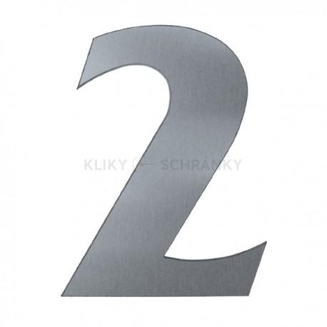 Domovní číslo popisné nerez - č.2