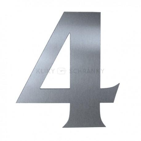 Domovní číslo popisné Nerez - č.4