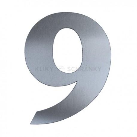 Domovní číslo popisné Nerez - č.9